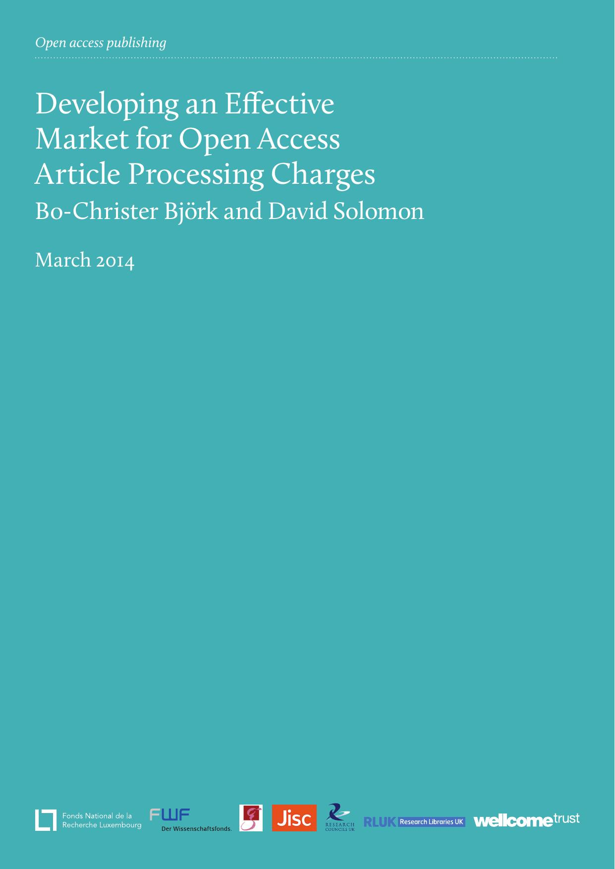 Developing an Effective Market for Open Access Assing Charges