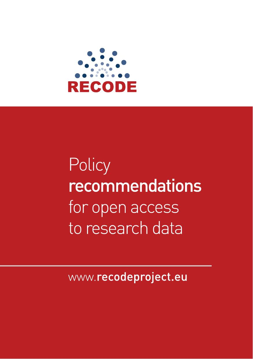 RECODE - Policy recommendations for open access to research data