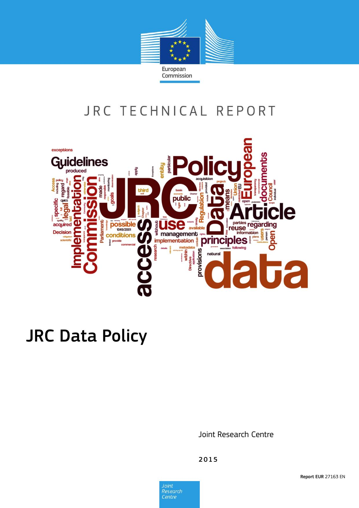 JRC Data Policy