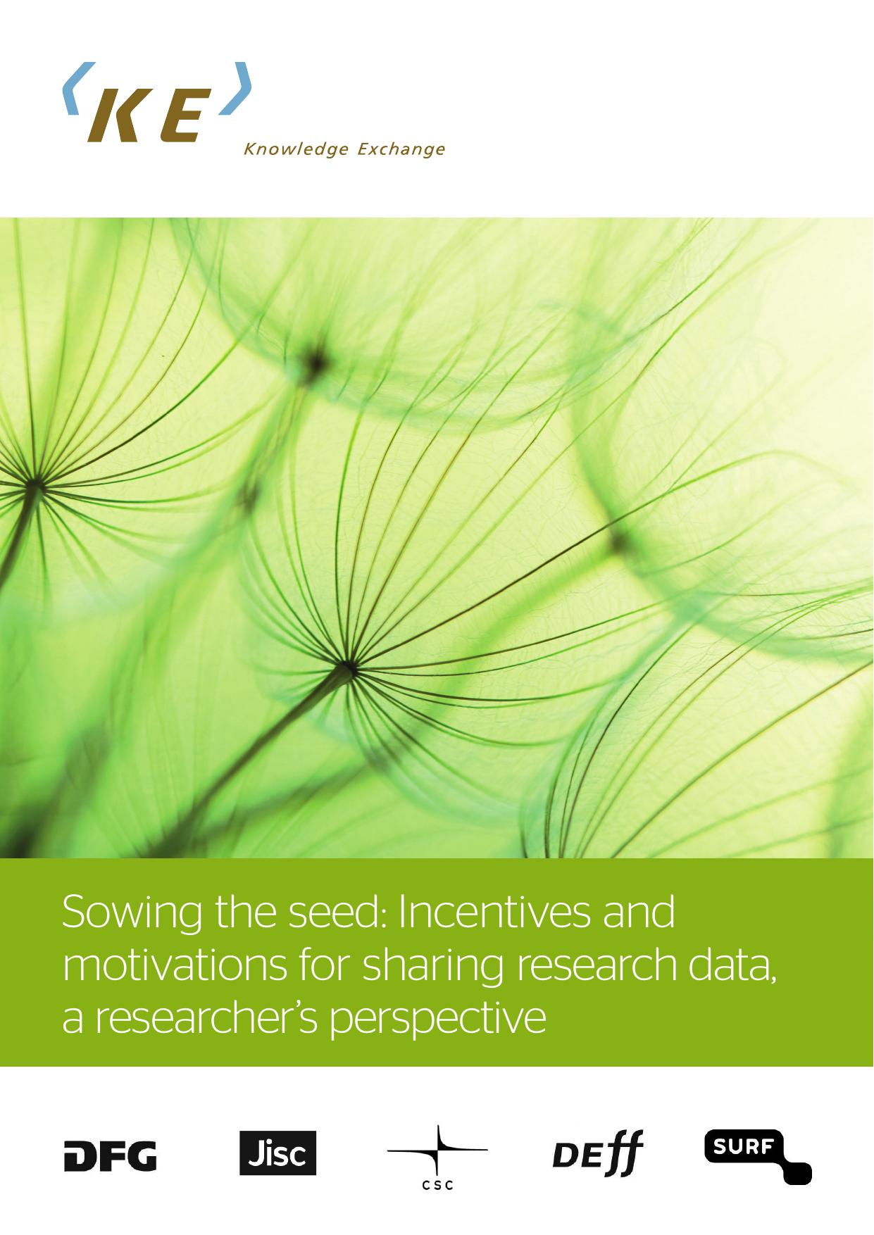 KE report incentives for sharing research data