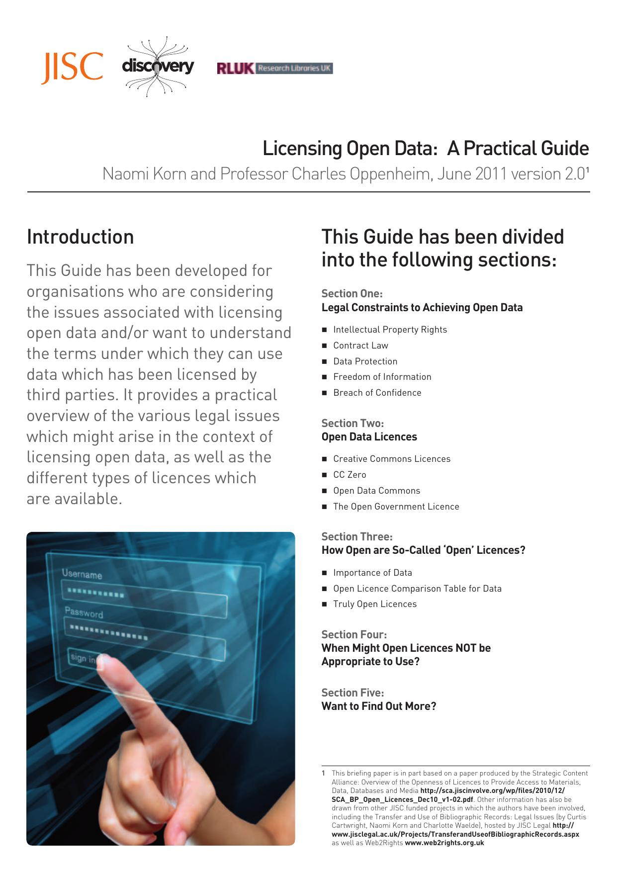 Licensing Open Data A Practical Guide