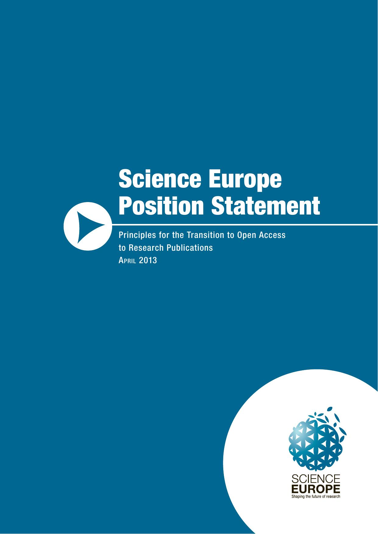New Science Europe Principles on Open Access Publisher Services   Science Europe