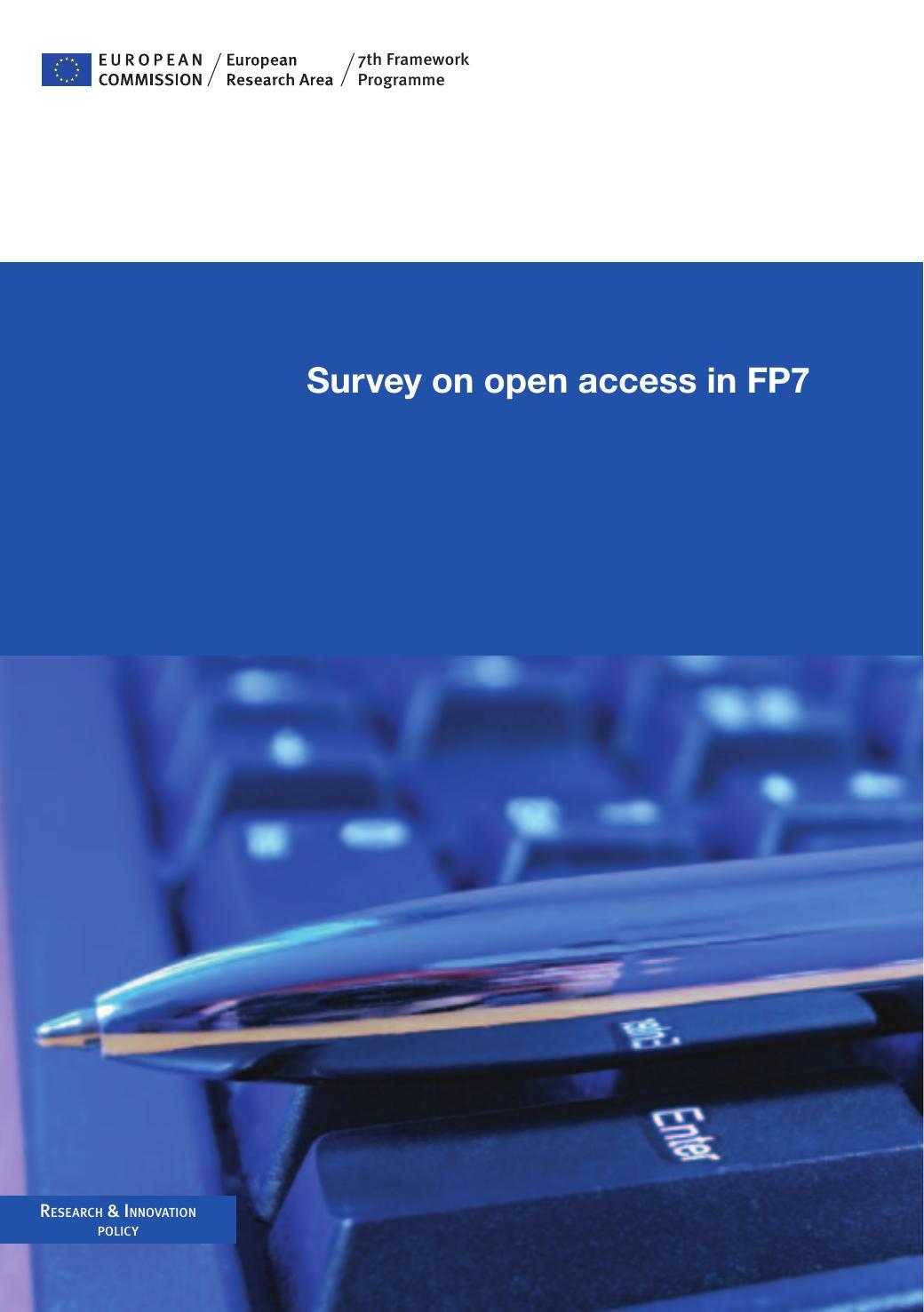 Survey on open access in FP7